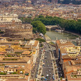 Aerial view of city Rome Royalty Free Stock Photo