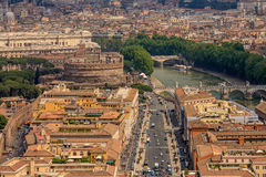 Aerial view of city Rome Stock Image