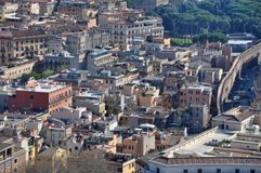 Aerial drone view of Rome city, Italy Stock Image