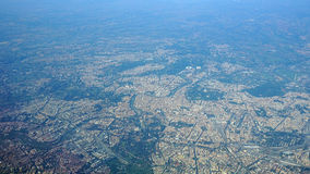Aerial View of The City of Rome Italy Stock Image