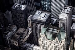 Aerial view of city rooftops Royalty Free Stock Photography