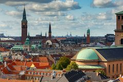 Copenhagen. Aerial view of the city. royalty free stock photo