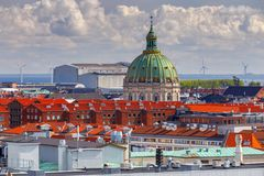 Copenhagen. Aerial view of the city. royalty free stock image