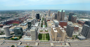 Aerial View City of Saint Louis Royalty Free Stock Images