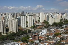 View of the city of Sao Paulo Brazil stock image