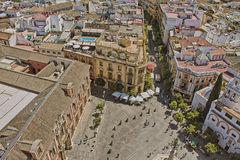 Aerial view of the city of Sevilla royalty free stock photography