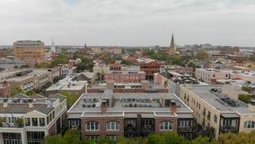 Aerial view of city skyline, Charleston, SC Stock Photos