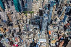 Aerial view of city skyscrapers Stock Images