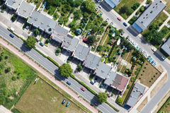 Aerial view of city suburbs Royalty Free Stock Photography