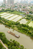 Aerial view City suburbs scenery. Hangzhou Aerial view City suburbs scenery,In China Stock Photography