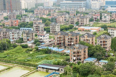Aerial view City suburbs scenery. Hangzhou Aerial view City suburbs scenery,In China Stock Photos
