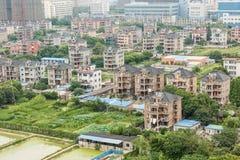 Aerial view City suburbs scenery Stock Photos