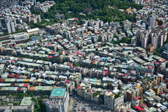 Aerial view of the city of Taipei Stock Image