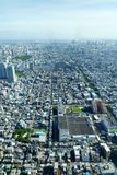 The aerial view of the city taken in Japan, Tokyos crowded landscape very beautiful Stock Images