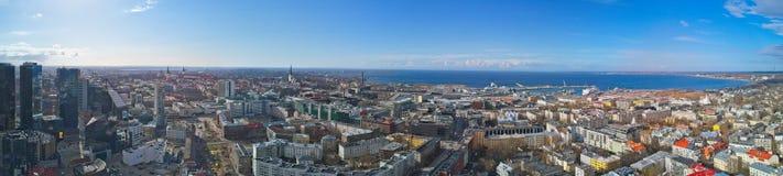 Aerial view of City Tallinn Estonia royalty free stock photo