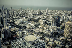 Aerial view of the City of Tel Aviv, Israel Stock Photo