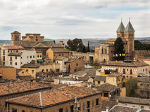 Aerial view of the city Toledo, Spain Royalty Free Stock Images