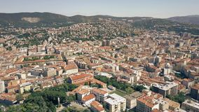 Aerial view of the city of Trieste, Italy Stock Photo