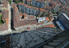 Aerial  view of the city of Turin in Italy from the highest buil Stock Photos