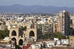 Aerial view city of Valencia, Spain Stock Images