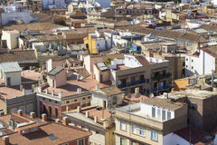 Aerial view city of Valencia, Spain Royalty Free Stock Photography