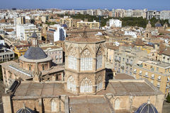 Aerial view city of Valencia, Spain Royalty Free Stock Image