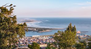 Aerial view of the  city Viana do Castelo in northern Portugal Stock Photography