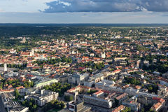 Aerial view of city of Vilnius Stock Photos