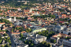 Aerial view of city of Vilnius Stock Photography