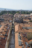 Aerial view of city Zadar, Croatia Stock Photos