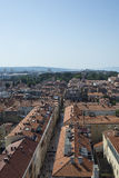 Aerial view of city Zadar, Croatia Stock Photography