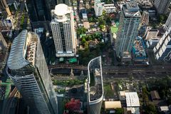 Aerial view cityscape stock photography