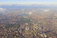 Aerial view of cityscape around London Stock Photo