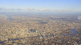 Aerial view of cityscape around London Royalty Free Stock Images