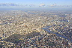 Aerial view of cityscape around London. Near sunset time Stock Photo