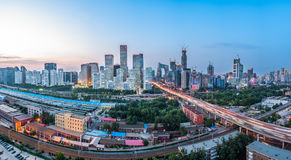 Aerial view of cityscape in Beijing,China Stock Photo