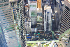 Aerial view of the cityscape at IFC Stock Photos