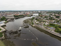 Aerial view cityscape of limerick city skyline, ireland Royalty Free Stock Image