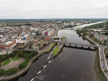 Aerial view cityscape of limerick city skyline, ireland Stock Images
