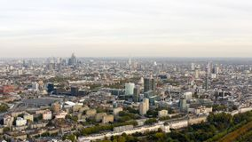 Aerial view cityscape of London urban residential neighborhood. Aerial view cityscape of London with urban architectures. Icons of the London skyline feat stock image