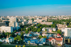 Aerial view, cityscape of Minsk, Belarus Royalty Free Stock Photography