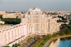 Aerial view, cityscape of Minsk, Belarus Stock Image