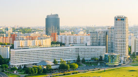 Aerial view, cityscape of Minsk, Belarus. Summer Stock Photo