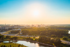 Aerial view, cityscape of Minsk, Belarus Stock Photography
