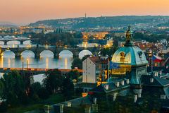 Aerial view of cityscape of Prague, Czech Republic Stock Photography
