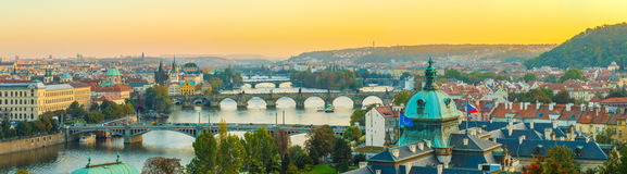 Aerial view of cityscape of Prague, Czech Republic Royalty Free Stock Image