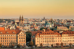 Aerial view of cityscape of Prague, Czech Republic Stock Image