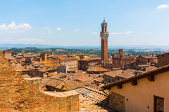 Aerial view of the cityscape of Siena, Italy Royalty Free Stock Images