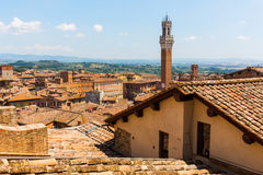Aerial view of the cityscape of Siena, Italy Royalty Free Stock Photo