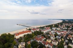 Cityscape of Sopot, view from above Royalty Free Stock Images